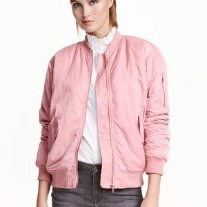 Satin Pink Bomber